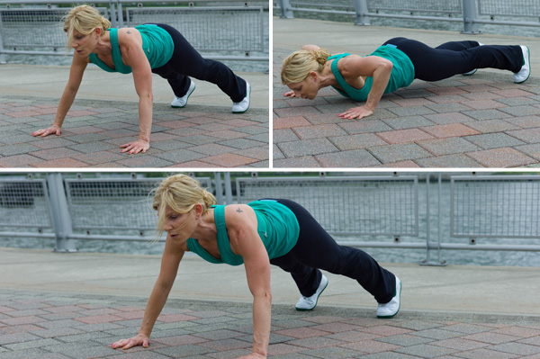 Side to Side Push Ups