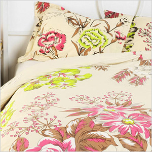 Neon Flowers Duvet Cover, urbanoutfitters.com, $89