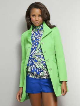 New York & Company green trench