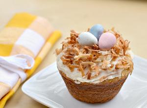 Birds nest cupcake