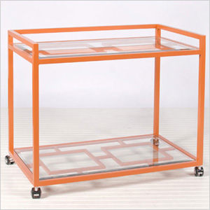 Hampton bar cart, poshliving.com, $770