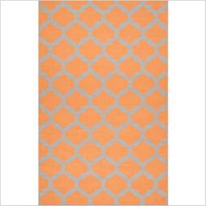  Moroccan orange rug, zincdoor.com, $63