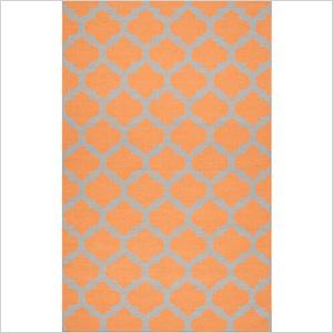 Moroccan orange rug, zincdoor.com, $63
