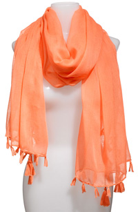 Lulu Sheer Fringed Scarf