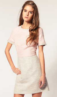 ASOS Tweed Dress in Pastel