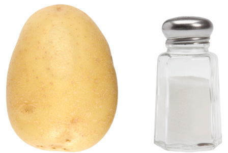 Potato and salt