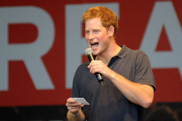 Prince Harry jokes about his grandmother in Brazil