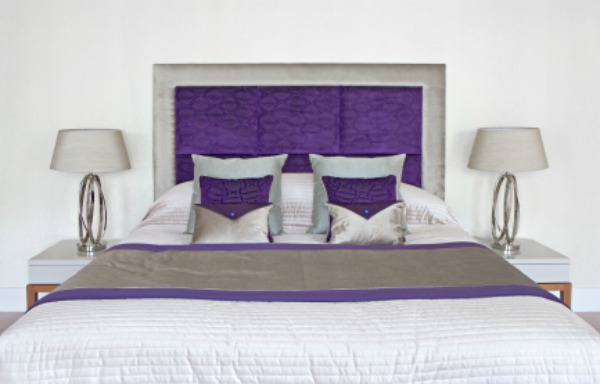 Purple headboard