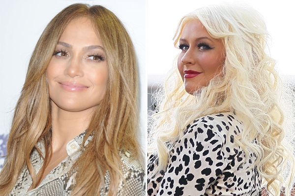 Jennifer Lopez and Christina Aguilera