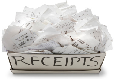atm receipts