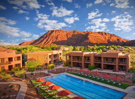 Red Rock aerial view