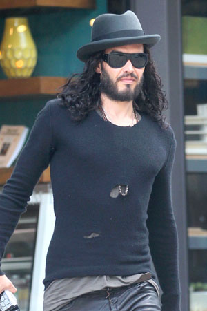 Russell Brand steps out with new GF