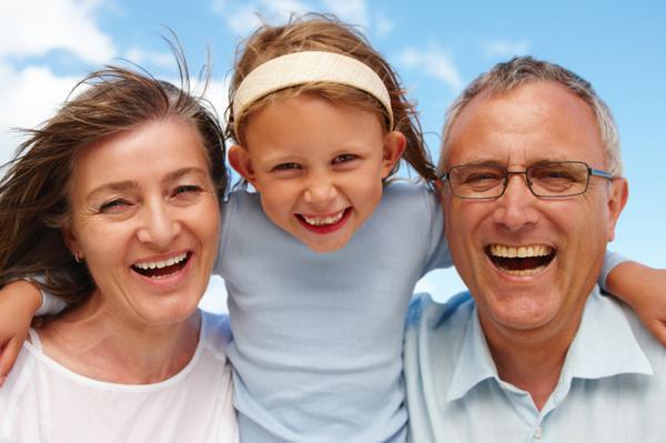 Fun with grandma and grandpa