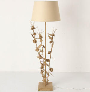 Sculpted floor lamp