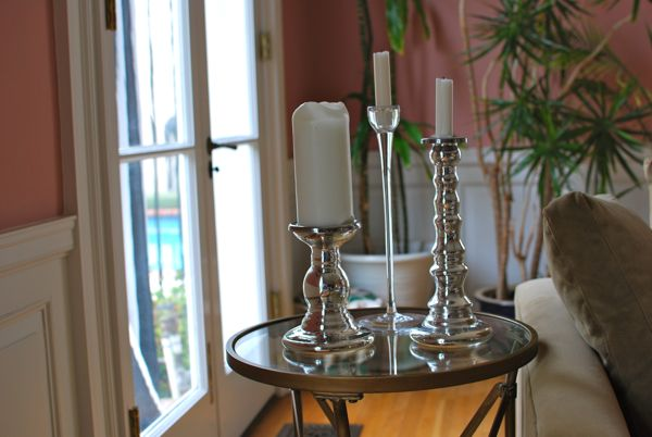 silver ikea candlesticks