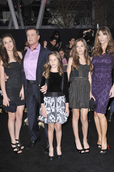 Sylvester Stallone and kids