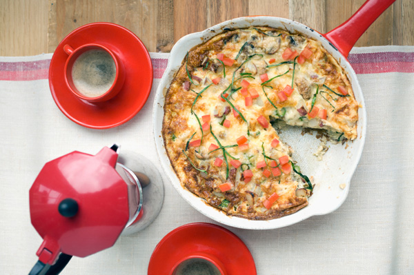 frittata summer squash with butter mozzarella tomato basil bbq tomato ...