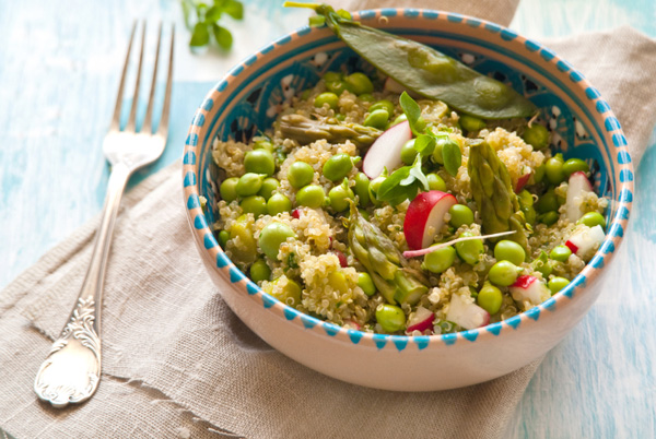 Sunday dinner: Quinoa salad with radishes and feta