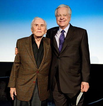 Robert Osborne with Kirk Douglass