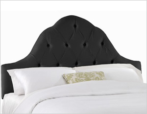 Tufted high arch headboard