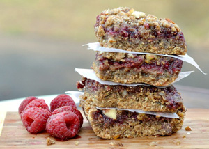 Whole wheat raspberry bars