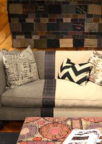 Color block sofa