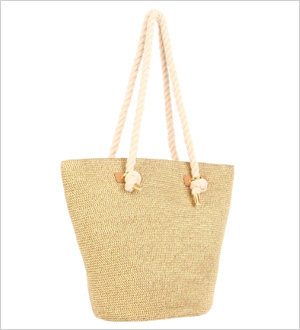 paper straw rope tote by Magid i