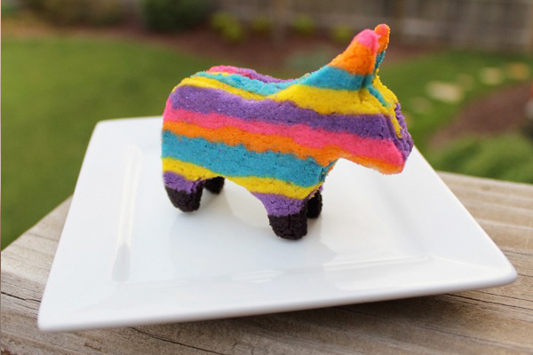 Final product: pinata sugar cookie!
