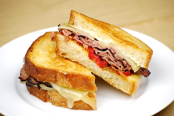 Philly cheese steak grilled cheese sandwich recipe