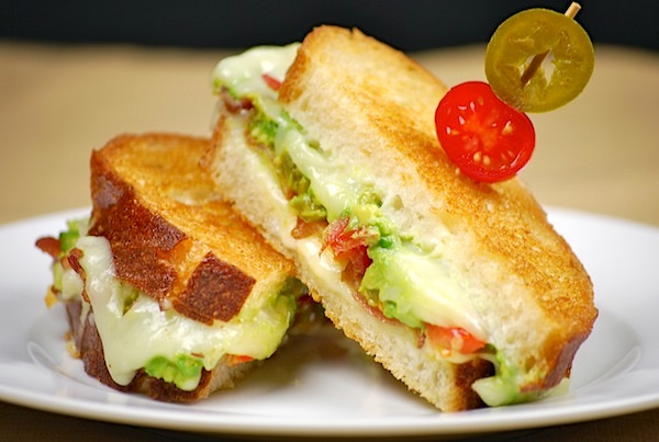 Spicy Southwestern bacon grilled cheese sandwich recipe