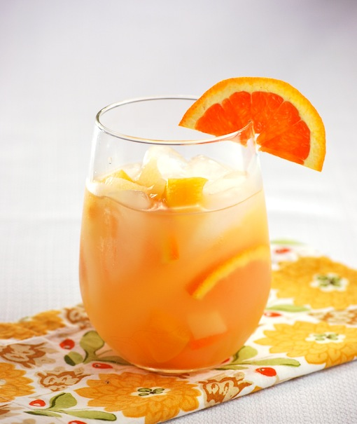 White sangria cocktail