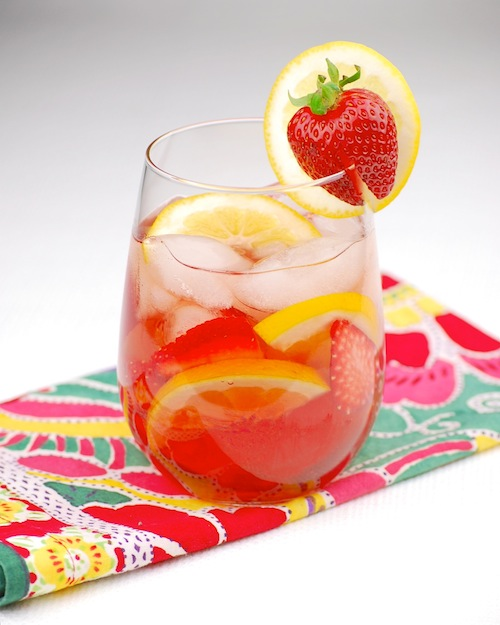 Rose sangria cocktail