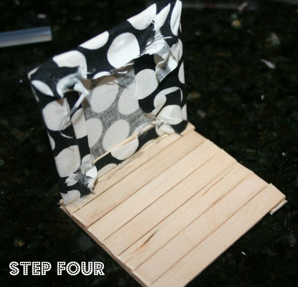 Popsicle stick house step 4