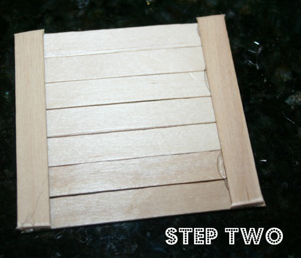 Popsicle stick house step 2