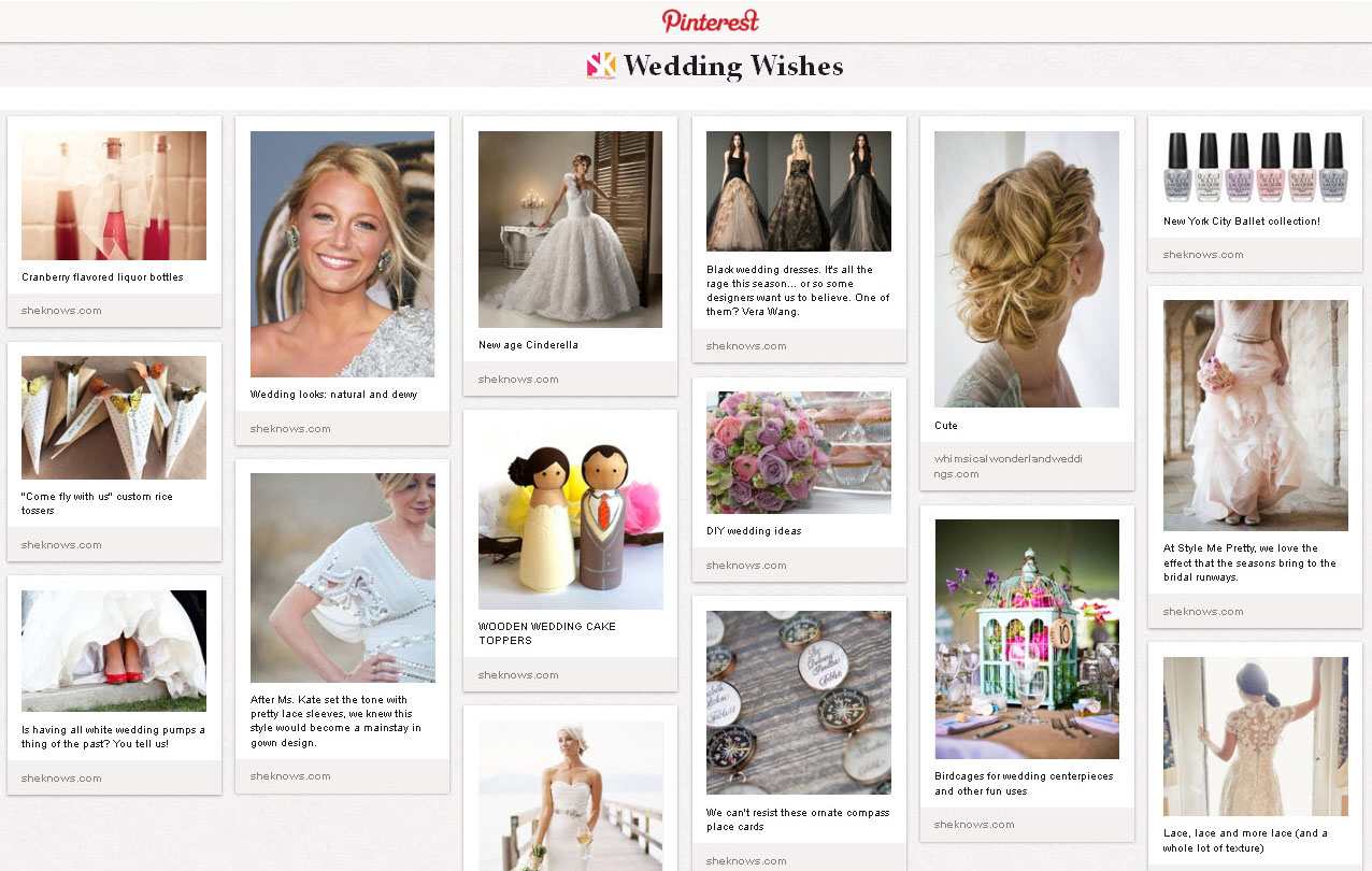SheKnows Weddings Board - PINTEREST