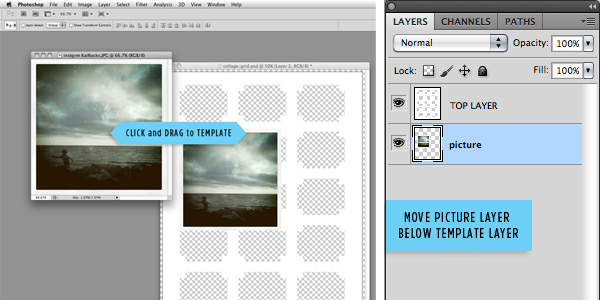 DIY craft tutorial: mod photo collage step 2