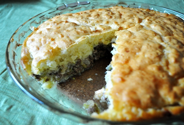 Shredded zucchini and beef make a delicious pie