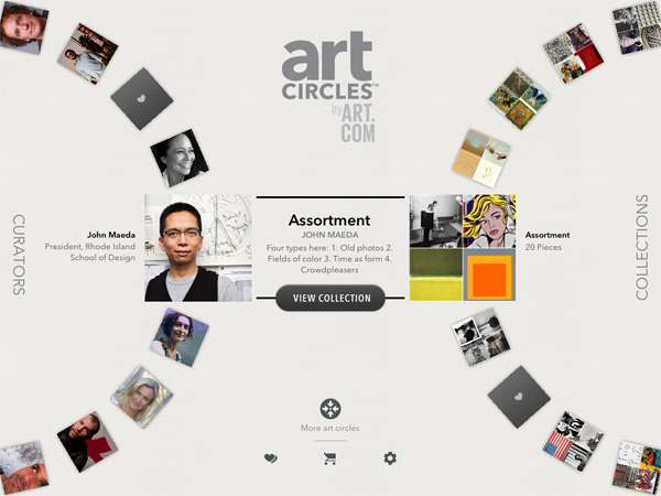 Take a spin at choosing art!