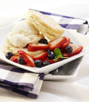 Mixed berry shortcakes