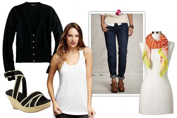 Relaxed style with a black cardigan