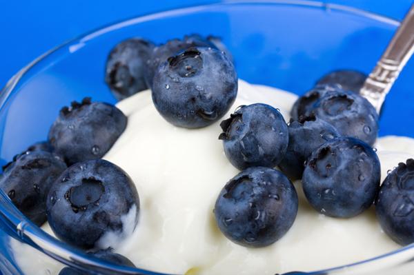 blueberry yogurt snack