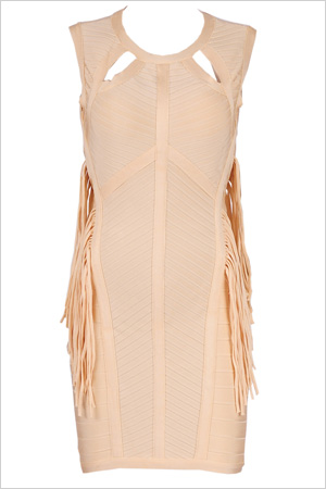 fringe bandage bodycon 