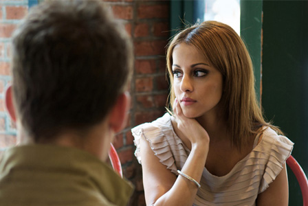Woman feeling distant from boyfriend
