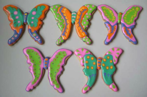 Earth Day butterfly cookies