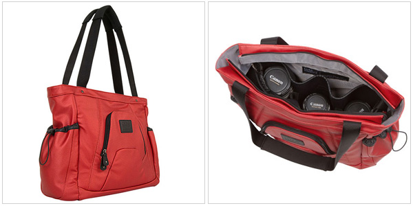 Tote & Shoot camera bag in red, shootsac.com, $229