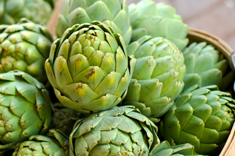 Summer artichokes
