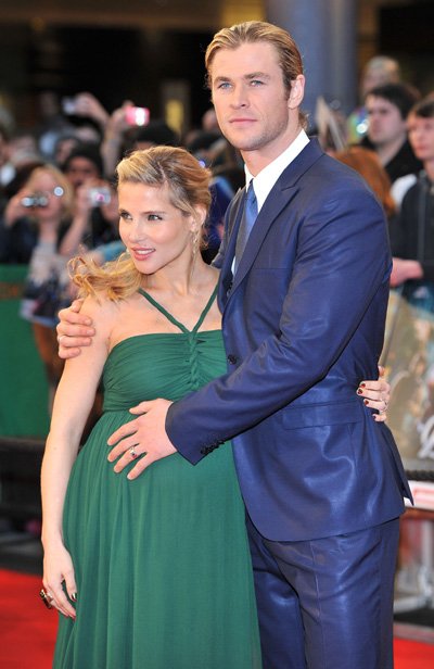 Chris Hemsworth and his pregnant wife Elsa Pataky