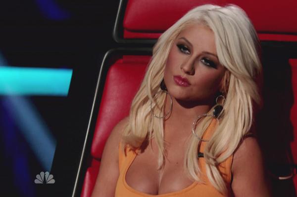Christina Aguilera looks good on The Voice!