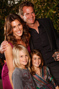Cindy Crawford with family