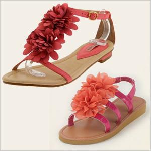 Coral sandals